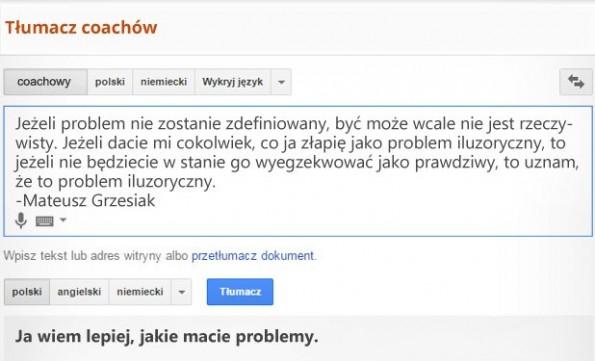 tłumacz coachow